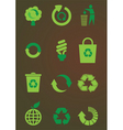 recycling icons set vector image vector image