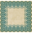 retro border pattern old background vector image vector image