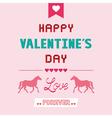 Romantic card33 vector image vector image