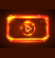 round light video player frame shining vector image vector image