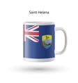Saint Helena flag souvenir mug on white background vector image vector image