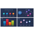 set of 4 options infographic designs vector image vector image