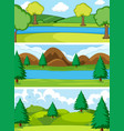 set of simple nature background vector image vector image