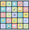 simple flat design icons vector image vector image