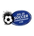 soccer football sport scoreboard spotlight vector image