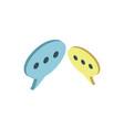 speech bubble isometric 3d icon vector image