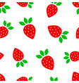 strawberry fruit seamless pattern background vector image