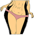 successful diet cartoon background vector image