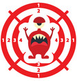 target with monster flat style red color vector image