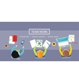 Team Work Concept Business Meeting vector image vector image