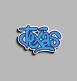 texas usa hand lettering sticker design vector image vector image