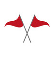 two red flags vector image vector image
