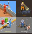 urban professions design concept vector image vector image