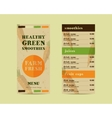 Vegetable smoothie menu concept Fresh vector image