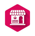 white marijuana and cannabis store icon isolated vector image vector image