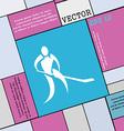 Winter sport Hockey icon sign Modern flat style vector image