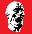 zombie screams head vector image vector image