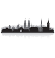 Zurich Switzerland city skyline silhouette vector image vector image