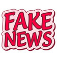 fake news sticker retro speech balloon vector image