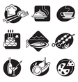 set of different food icons vector image