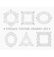 Set of elegant ornate floral design templates vector image