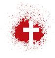 bloody cross vector image