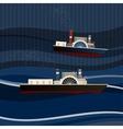 01 Ship sea vector image vector image
