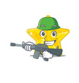 a cartoon picture shiny star in army style