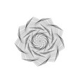 abstract geometric shapesflower vector image vector image
