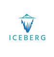 abstract iceberg design template vector image