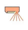 air conditioner control icon design editable vector image