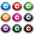 arrow in circle set 9 collection vector image vector image