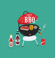 barbecue grill sauces funny image vector image