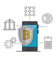 blockchain and bitcoin technology concept vector image