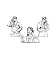 Business People on the Phone vector image vector image