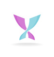 Butterfly colorful elegant logo Two intersected vector image