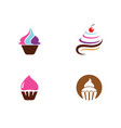 cake sign icon vector image vector image