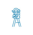 child chair linear icon concept child chair line vector image