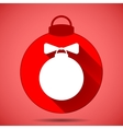Christmas icon with the silhouette of the balloon vector image vector image