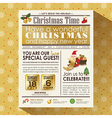 Christmas party newspaper poster template vector image vector image