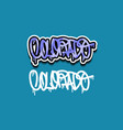 colorado usa hand lettering graffiti tag style vector image