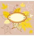 Colored leaves background with frame for text vector image vector image