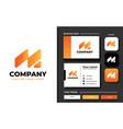 creative professional trendy initial m logo vector image vector image