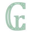 cruzeiro brazil currency symbol icon striped vector image