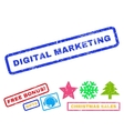Digital Marketing Rubber Stamp vector image vector image