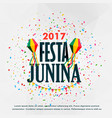 festa junina celebration poster design with vector image vector image