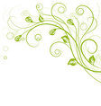 floral background in green vector image vector image