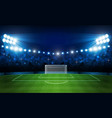 football arena field with bright stadium lights vector image vector image