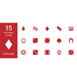 fortune icons vector image vector image