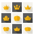 Golden crowns icons vector image vector image